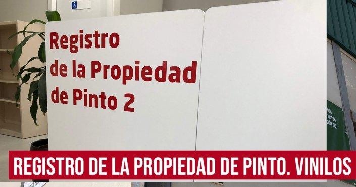 REGISTRO DE LA PROPIEDAD-VINILOS