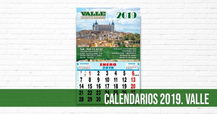 VALLE - CALENDARIOS 2019 - IMAGEN DE CATEGORÍA